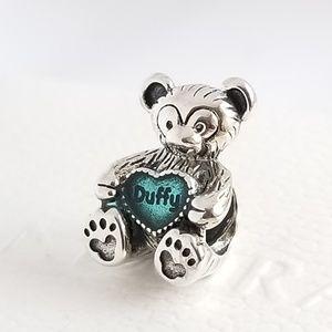 Pandora Duffy the Disney Bear Charm Silver NWT